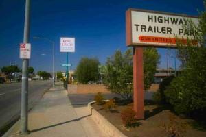 Highway Trailer Park sign