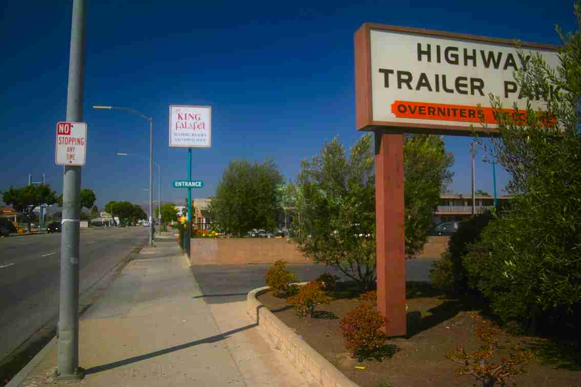 Highway Trailer Park sign
